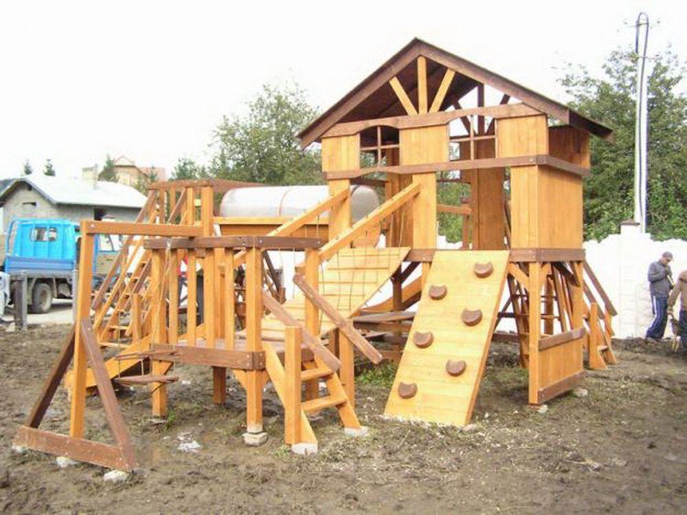 Детские деревянные площадки фото 123